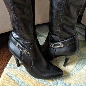Dana Buchman Shoes - Dana Buchman Vegan Leather Tall Boot Stiletto Heel